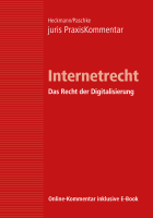 Abbildung: juris PraxisKommentar Internetrecht - Telemediengesetz, E-Commerce, E-Government