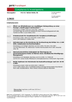 Abbildung: juris PraxisReport Compliance & Investigations